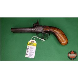ANTIQUE PISTOL: Double Barrel Cap & Ball Unknown cal Muzzle Loader : NO PAL Required