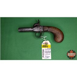 ANTIQUE PISTOL: Unknown Make Single Barrel Cap & Ball Unknown cal Muzzle loader : NO PAL Required