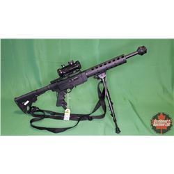 RIFLE: Ruger SR-22 Semi-Auto 22LR w/BSA Tactical Scope, Bi-Pod & Sling S/N#280-15385