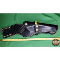 Black Leather Holster w/Snap Top