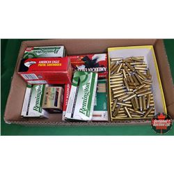 AMMO: Tray Lot - Variety (315Rnds) (357 Magnum) (FMJ & Softpoint) + Brass (148)