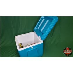 Variety of Brass, Bullet Holders & Pellets with Blue Cooler