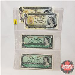 Canada $1 Replacement Bills - Sheet of 4: 1973 Lawson/Bouey (2 Sequential) *AA1914180/81 AND 1954 Be