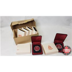 RCM Case Lot (6) : 1952-1977 Canadian $1 Throne of the Senate Silver Jubilee In Capsule and Cases (N
