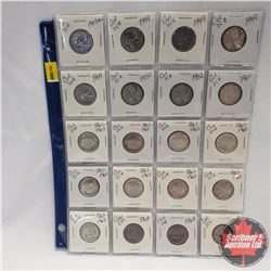 Canada Twenty Five Cent - Sheet of 20 (See Pictures for Dates - 1940's; 1950's; 1906's)