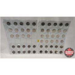 Canada Twenty Five Cent (54 Coins) (1873-1973 RCMP x 10) & (1999 Millennium Designs - Variety x 44)