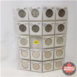 Canada Fifty Cent - Sheet of 19 (1950 x 10) (1951 x 9) (See Picture for Details)