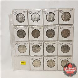 Canada Fifty Cent - Sheet of 15 : 1940; 1941; 1942; 1943; 1944; 1945; 1946; 1949; 1950; 1951; 1952;