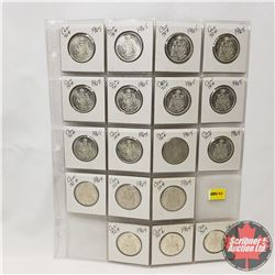 Canada Fifty Cent - Sheet of 18 (1964 x 6) (1965 x 12)
