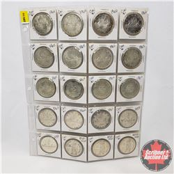 Canada One Dollar - Sheet of 20: (1858-1958 x 3) (1959 x 2) (1961; 1962; 1963) (1964 x 3) (1965 x 5)