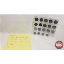 Canada One Dollar & Fifty Cent - Sheet (19 Coins) : (One Dollar : 1984; 1986; 1986; 1985; 1984; 1976