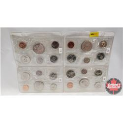 Canada Proof Year Sets - Sheet of 4 Sets (1974; 1974; 1975; 1975)