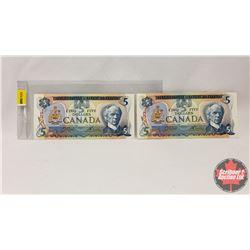 Canada $5 Bills 1979 : Crow/Bouey 30575663652/30575663572