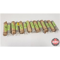 Canada Five Cent - ROLLS (14): (2003 x 4) (1952-2002 x 3) (6 x Variety Years 1930's, 1940's, 1950's,