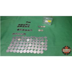Canada Ten Cent - Trinket Box Lot (97 Coins) (1940's, 1950's, 1960's, 1970's, 1980's, 1990's, 2000's
