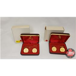 RCM Cuff Links - in Cases (2 Sets) (Note : One set damaged)