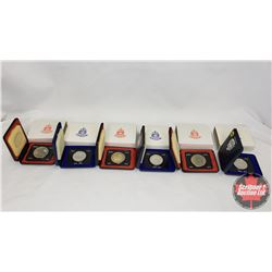 RCM Bulk Lot (6) : 1873-1973 Canada Specimen Dollar In Capsule and Red Cases (3) & 1873-1973 PEI Can