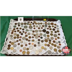 Foreign Coin Collection (150 Coins) (Large Variety of Denoms & Countries & Dates) (Including: Francs