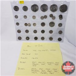 US Coins (34 Variety) : Dollars, Half Dollar, Quarter, Nickels, Dimes (See Picture for Dates 1930's-