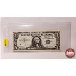 "US $1 Bill 1957 ""Blue Seal"" Replacement Note (*51113549B)"