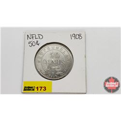 NewFoundland Fifty Cent : 1908