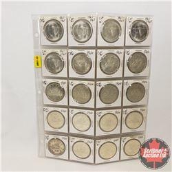 Canada Silver Dollars - Sheet of 20: (1966 x 15) (1867-1967 x 5)