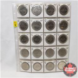 Canada Dollars - Sheet of 20: (1867-1967 x 1) (1968 x 19)
