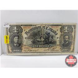 Dominion of Canada $1 Bill 1898 S/N#031707