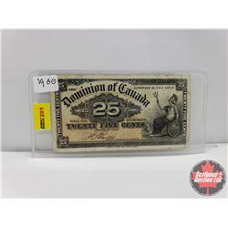 "Dominion of Canada Twenty Five Cent ""Shinplaster"" 1900"