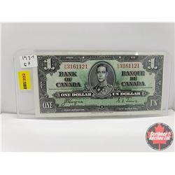 Canada $1 Bill 1937 Coyne/Towers S/N#KN3161121