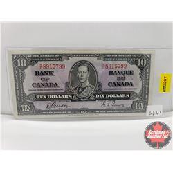 Canada $10 Bill 1937 Gordon/Towers S/N#SD8915799