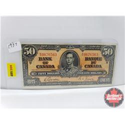 Canada $50 Bill 1937 Gordon/Towers S/N#BH0676563