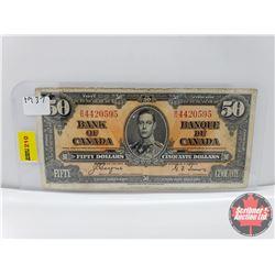 Canada $50 Bill 1937 Gordon/Towers S/N#BH4420595