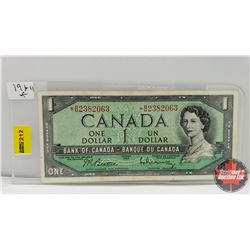 Canada $1 Bill 1954 Replacement : Beattie/Rasminsky *BM2382063