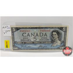 Canada $5 Bill 1954 : Beattie/Coyne DC3251435