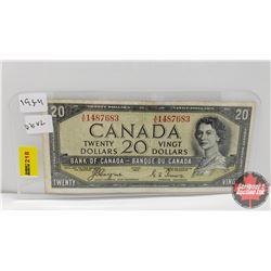 Canada $20 Bill 1954 : Coyne/Towers AE1487683