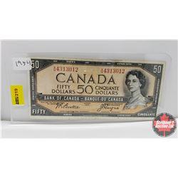 Canada $50 Bill 1954 : Beattie/Coyne AH4313012