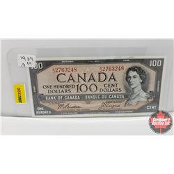 Canada $100 Bill 1954 : Beattie/Coyne AJ2763248