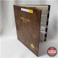 Canada Ten Cent Collection in Collector Uni-Safe Book (35 Coins) (1950's - 1990's) (See Pictures for