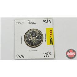 Canada Twenty Five Cent 1947