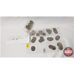 Canada Twenty Five Cent - Variety (52 Coins) (See Pictures for Dates/Varieties)