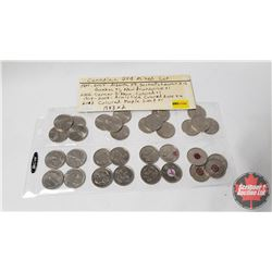 Canada Twenty Five Cent - Variety (32 Coins) (See Pictures for Dates/Varieties)