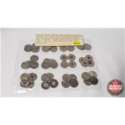 Canada Twenty Five Cent - Variety (48 Coins) (See Pictures for Dates/Varieties)