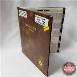 Canada Twenty Five Cent Collection in Collector Uni-Safe Book (69 Coins) (1940's - 1990's) (See Pict