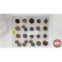 Foreign Coin Collection (25) (Incl: Australia, Mexico, England, Nederland, etc)