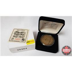 The Highland Mint  Wayne Gretzky  Bronze Medallion - Hall of Fame November 22, 1999 (COA #5503)