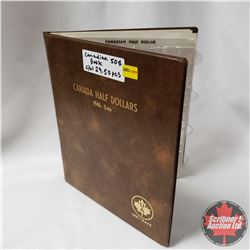 Canada Half Dollar Collection in Collector Uni-Safe Book (29 Coins) (1950's - 2000's) (See Pictures