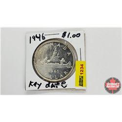 Canada Silver Dollar : 1946