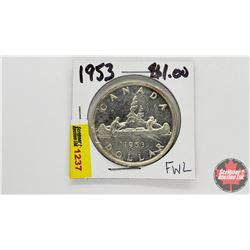 Canada Silver Dollar : 1953
