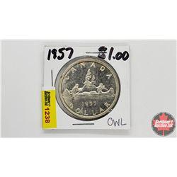 Canada Silver Dollar : 1957